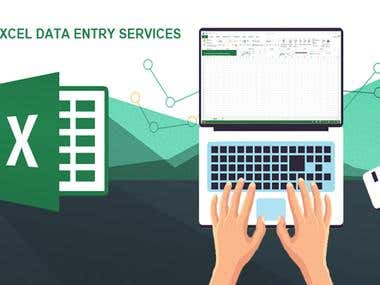 I will do any types of Data Entry work.