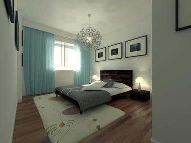 3D Interior (Bedroom)