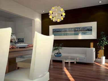 3D Interior (Dinning Room)