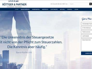 Rottger -Partner Steuerberater (Wordpress, Graphics)