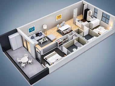 Architectural 3D Floorplans