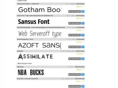 Downloadable Fonts Website