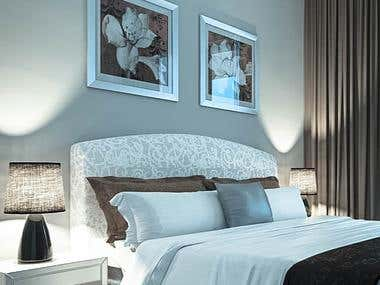 Bedroom - interior rendering