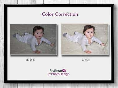 Color correction. Children's portraits