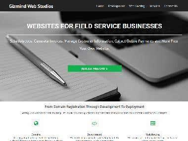 Gizmind Web Studio | Laravel Based Website created