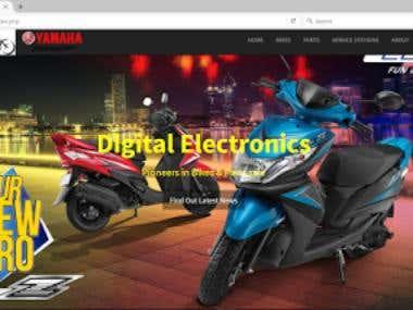 A web page for Yamaha Bike Dealers