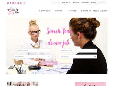 Website for online career lounge for Women