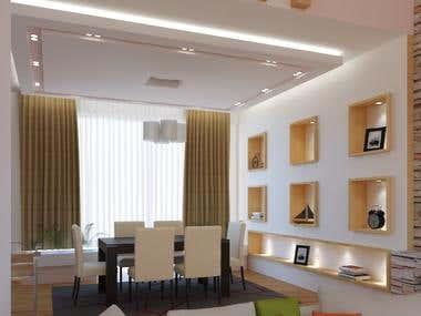 Dining Room Interior Rendering