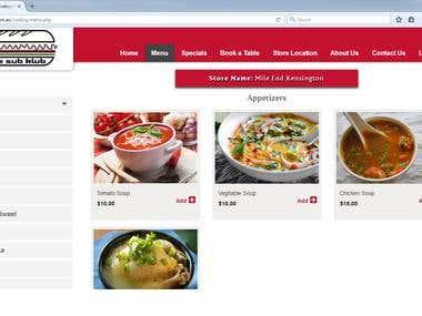 Restaurant Ordering Menu System