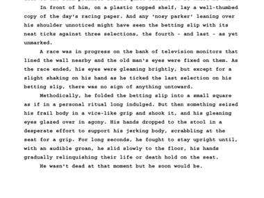 Copy Typed, Proofread & Copy Edited part of a manuscript.