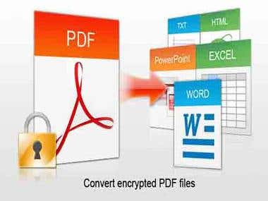 I Will do convert your PDF file to any file format.