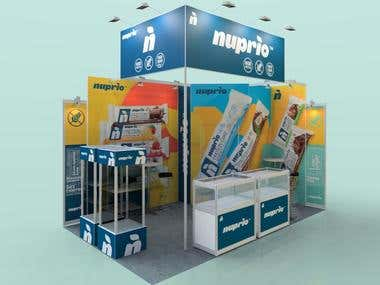exhibition stand 16sqm, for WorldFood 2017 in Moscow, Russia