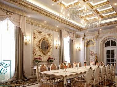 interior design of classic food room
