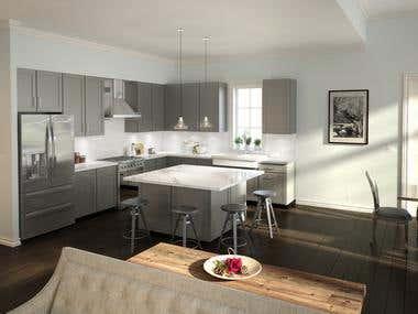 3D Interior (Kitchen)