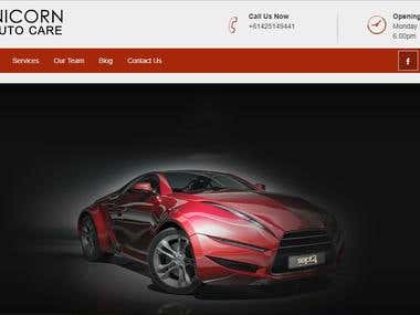 web design for UNICORN AUTO CARE