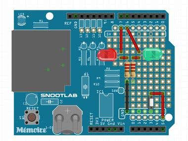 Arduino Sketch for interfacing temperature sensors