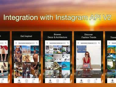 Intagram social Integrating