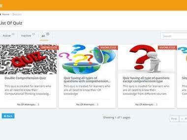 Dynamic site - UI Development