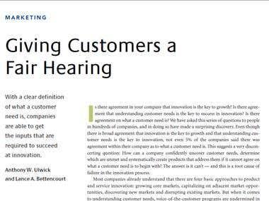 Tradução de Artigo - Giving Customers a Fair Hearing