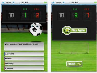 Soccer App for IPHONE