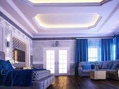 interior design of master bed room