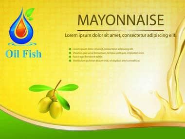 Label & sticker Oil Fish
