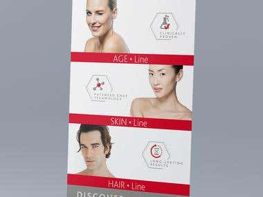 Roll-up Design for Cosmetic company (Switzerland)