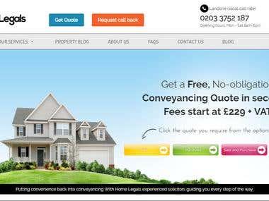 Home Legals UK Website Development