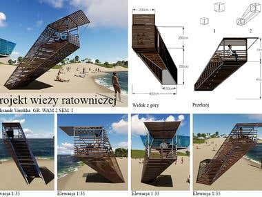 Lifeguard tower (Project for university)