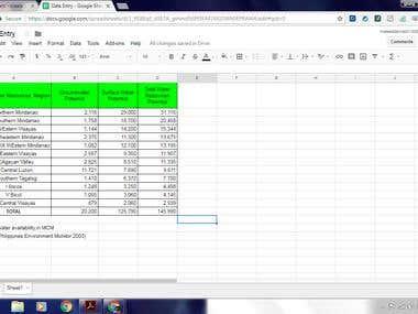 Data Entry Sample