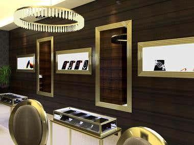 Shop 3d modiling & Render