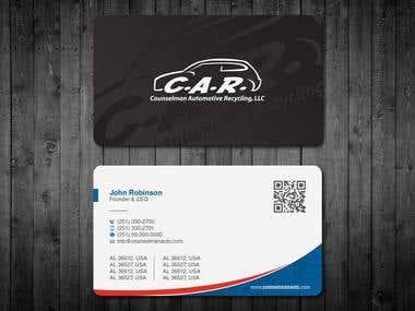 Two Sided Business Card - Use Our Logo