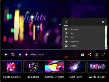 Custom Video Player Design and Developed