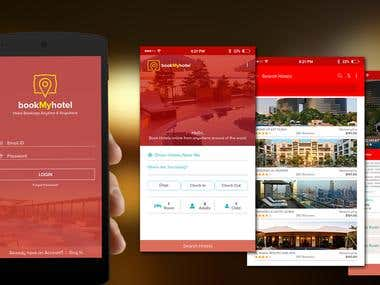 Book your Hotel Mobile App UI Design