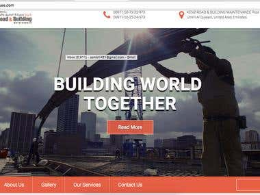 Construction website in php , html5 , css3 and jquery