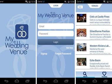 My wedding venue app