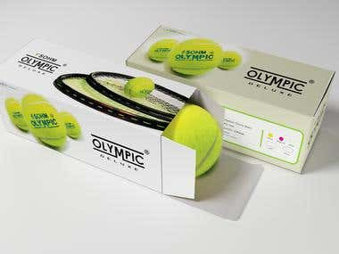 Package Design for Sohm Rubber Tech (Tennis ball container)