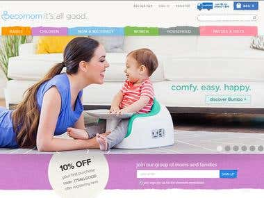Online shopping of moms & baby products