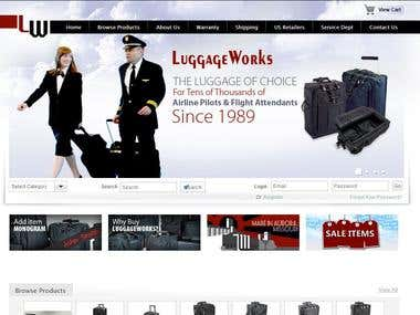 Online shopping luggage products