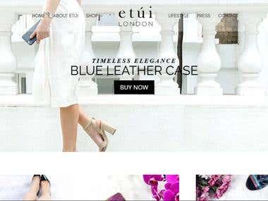 Etui London Website Development