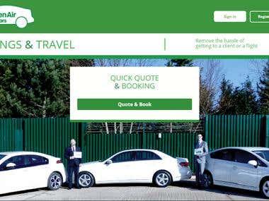 Green Air Cars Uk Website Development