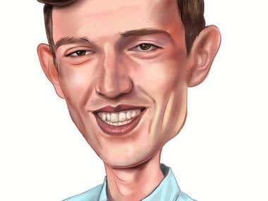 Artistic digital Caricature