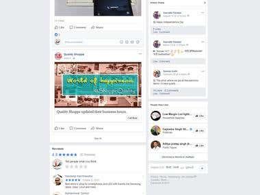 A Electronic Shop : Socaial Media Marketing