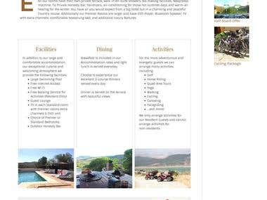 HTML Responsive Website for a Hotel
