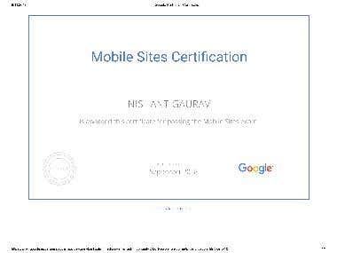 Google Certification for Mobile Site .