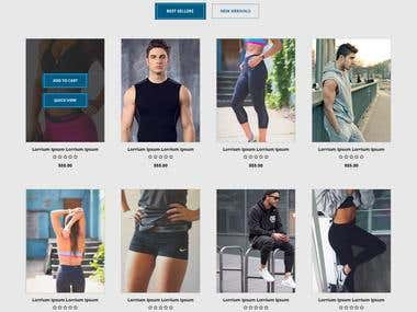 Online Store for T shirts and Gym Gym Apparel