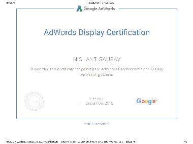 Google Partners - Display Certification