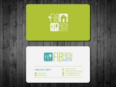 Business card for a Healthy Meal Delivery Company