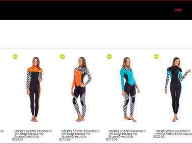 English - German Translation (Sportswear Website)