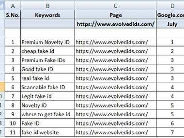 Google Organic Ranking - Google.com